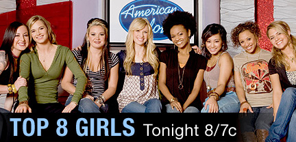 American Idol Season Seven Top 8 Females