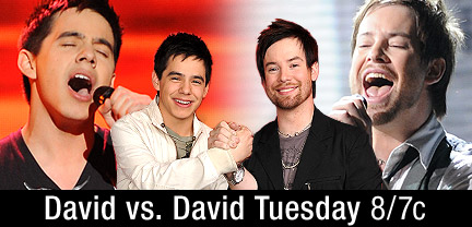 American Idol Season 7 Top Finalists, David Archuleta and David Cook,