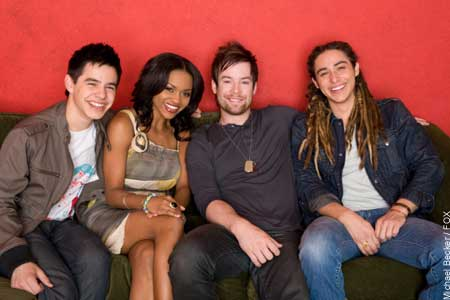 American Idol season 7 Top 4 Finalists
