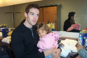 My granddaughter, Kyra, with Tenor Jamie McNight