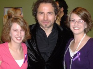 Remigio Pereira with two of my vocal students, Victoria and Alana Rafuse