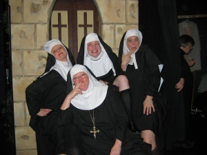 Sister Margaretta, Sister Berthe, Sister Sophia and Mother Abbess