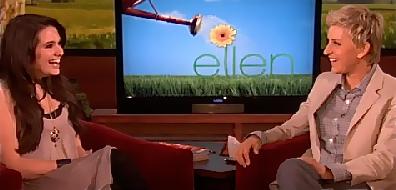 Katie Stevens and Ellen DeGeneres
