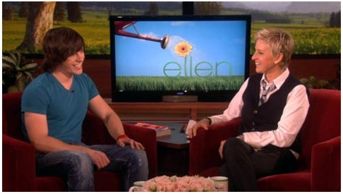 Tim Urban and Ellen Degeneres