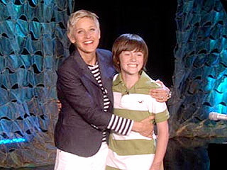 Ellen Degeneres and Greyson Chance