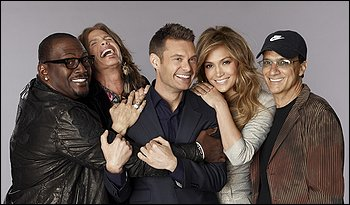 Randy Jackson, Steven Tyler, Ryan Seacrest, Jennifer Lopez and Jimmy