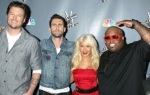 Blake Shelton, Adam Levine, Christina Aguilera and Cee Lo Brown, Judges For NBC's The Voice