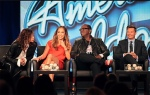 American Idol Judges Steven Tyler, Jennifer Lopez, Randy Jackson, and host Ryan Seacrest