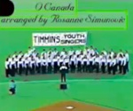 Timmins Youth Singers under the direction of Rosanne Simunovic perform the American and Canadian National Anthems