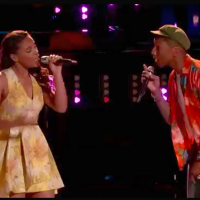 "The Voice Season 8 Koryn Hawthorne and Pharell Williams ""Can't Work It Out"""