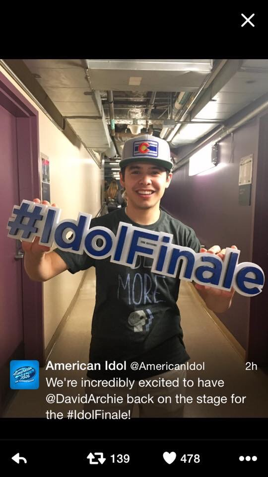 David Archuleta, American Idol Season 15 Finale
