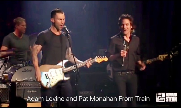 Adam Levine and Pat Monahan From Train