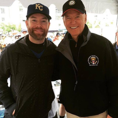 David Cook, Vice President Joe Biden, Race For Hope 2016