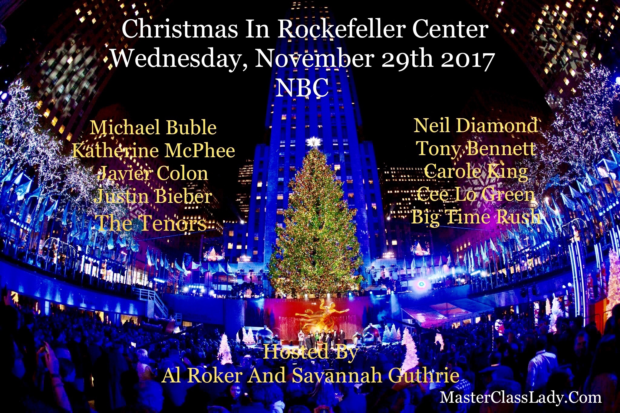 A Star-Studded Christmas In Rockefeller Center Airs On November 29th on NBC