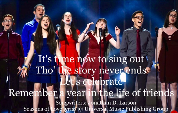 MasterClass Monday: Marjory Stoneman Douglas Students Perform An Emptionl Seasons Of Love At The Tony Awards.