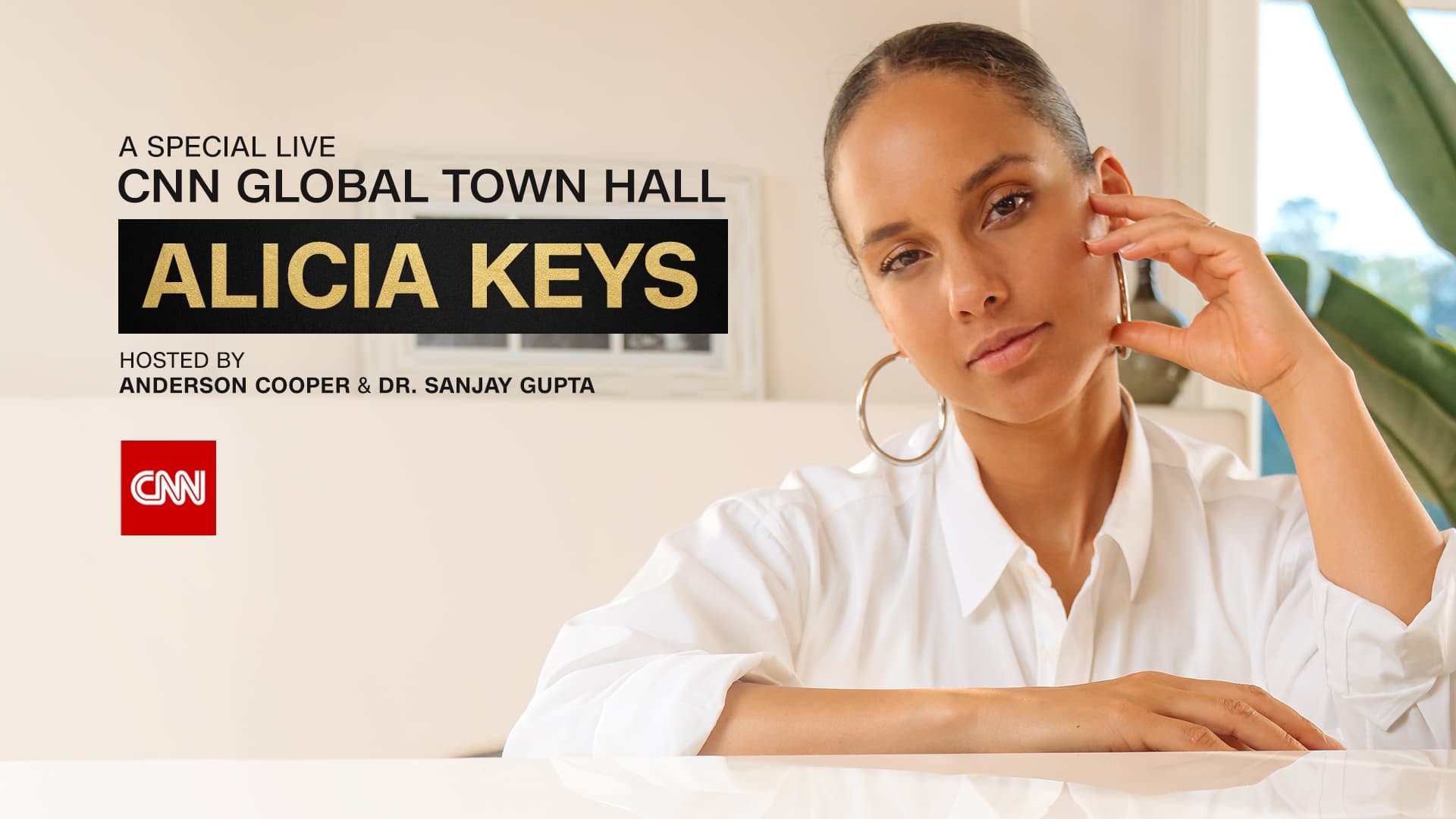 CNN Hosts A Special Global Town Hall Featuring Alicia Keyes